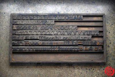 Assorted Letterpress Wood Type - 022120105155