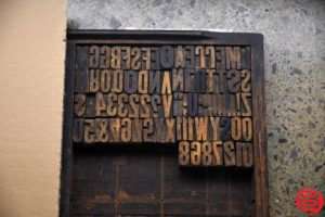 Assorted Letterpress Wood Type - 022120105510