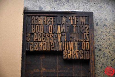 Assorted Letterpress Wood Type - 022120105510