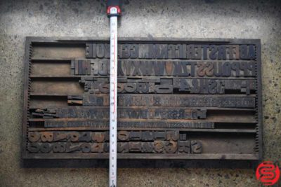 Assorted Letterpress Wood Type - 022120105540