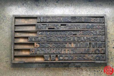 Assorted Letterpress Wood Type - 022120113415