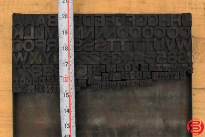 Assorted Letterpress Wood Type - 022120125720