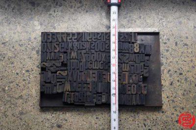 Assorted Letterpress Wood Type - 022220085430