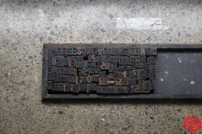 Assorted Letterpress Wood Type - 022220093445