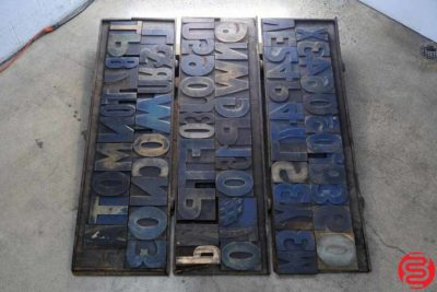 Assorted Letterpress Wood Type - 022220105745