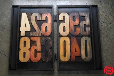 Assorted Letterpress Wood Type - 022220124405