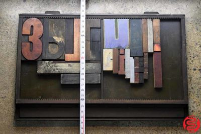 Assorted Letterpress Wood Type - 022420072345