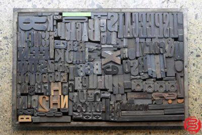 Assorted Letterpress Wood Type - 032520091650