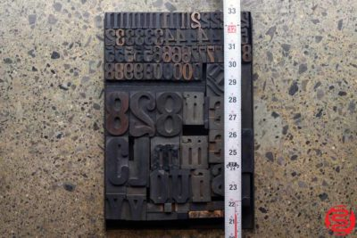 Assorted Letterpress Wood Type - 032520093105