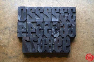 Assorted Letterpress Wood Type - 1.75 - 032620074150
