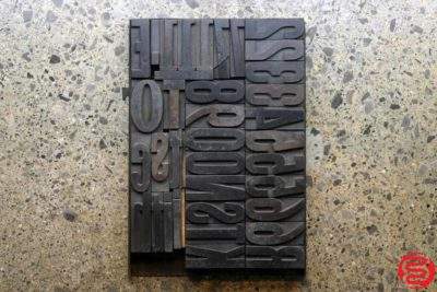 Assorted Letterpress Wood Type - 2.5 - 032520102350