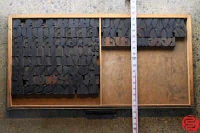 Assorted Letterpress Wood Type - Full Capitals - 1.5 - 032520023520