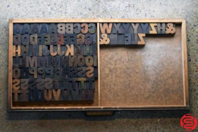 Assorted Letterpress Wood Type - Full Capitals - 1.5 - 032520111755