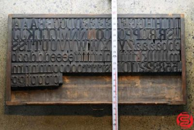 Assorted Letterpress Wood Type - Full Capitals - 2 - 032520093040