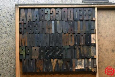 Assorted Letterpress Wood Type - Full Capitals - 2 - 032520102500