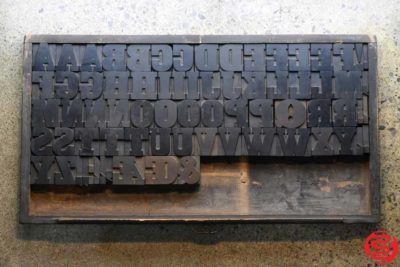 Assorted Letterpress Wood Type - Full Capitals - 2 - 032520111445