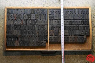 Assorted Letterpress Wood Type - Full Capitals Full Lowercase - 1.5 - 032520023450