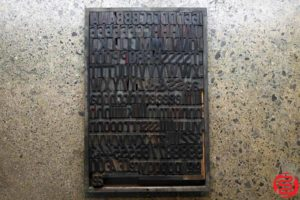 Assorted Letterpress Wood Type - Full Capitals Full Lowercase - 1.5 - 032520102630