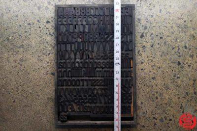 Assorted Letterpress Wood Type - Full Capitals Full Lowercase - 1.5 - 032520102630
