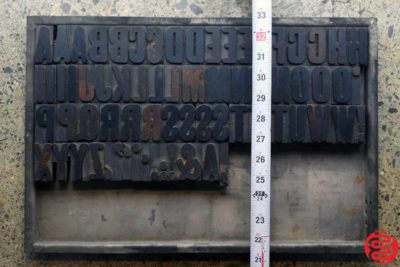 Assorted Letterpress Wood Type - Full Set Capitals - 1.5 - 032520091550