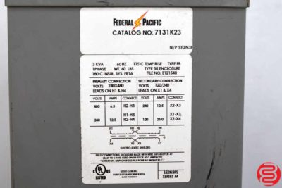 Federal Pacific 7131K23 Transformer - 032620104930