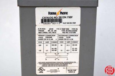 Federal Pacific SB12N.750F Transformer - 032620103450