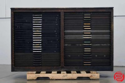 Hamilton Letterpress Type Cabinet - 46 Drawers - 022420103105