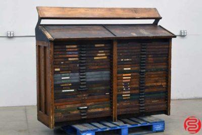 Hamilton Letterpress Type Cabinet - 48 Drawers - 022420124720