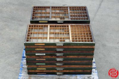 Hamilton Letterpress Type Cases - Qty 26 - 022020011920