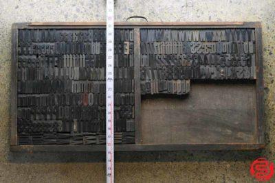 Assorted Letterpress Wood Type - Full Capitals Full Lowercase - 1.5 - 033020123840