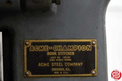 Acme Interlake Model A Flat Book Saddle Stitcher - 050820120050