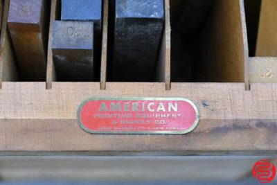 American Printing Equipment Furniture Cabinet - 051220094650