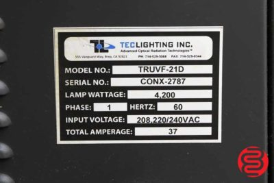 "Tec Lighting TruCoat 21"" Hand-Fed UV Coater - 061620093320"