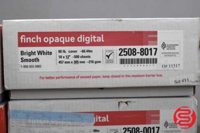 Finch Opaque Digital Bright White Smooth 18 x 20 80 lb Paper - 13 Cases - 061720075320