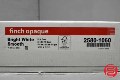 Finch Opaque Bright White Smooth 65 lb Cover 23 x 35 Paper - 2 Cases - 060320123200