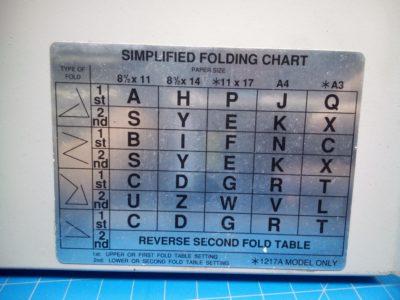 Martin Yale 1217A Paper Folder Tray - P02-000101