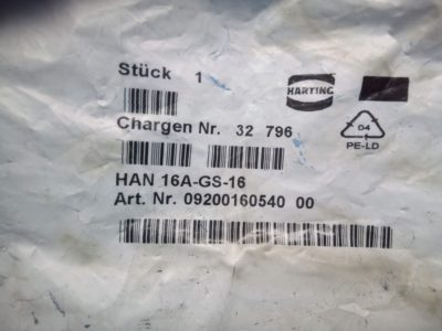 Harting Electrical Hood - P02-000162