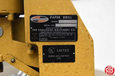 Challenge JO Tabletop Single Spindle Paper Drill - 083120014610