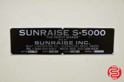 Sunraise S-5000 Thermography Machine - 090320073820
