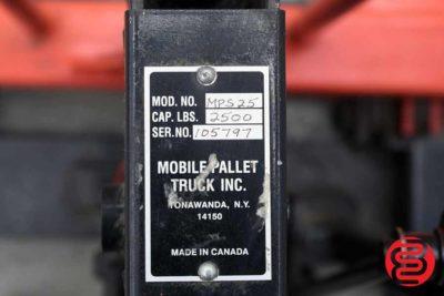 Mobile Pallet Truck MPS 25 2500 lb Pallet Jack - 091020024620