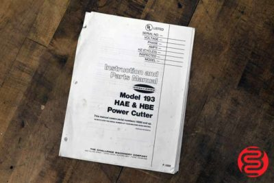 Challenge 193 HBE Paper Cutter - 092120011550