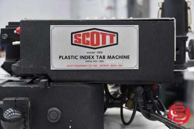 Scott 1800 Plastic Index Tab Machine - 092420025050