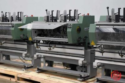 2005 Muller Martini Presto Six Pocket Saddle Stitching System w/ Cover Feeder and Hand Feed Station_3523