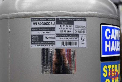 Campbell-Hausfeld WL603000 Stationary Air Compressor - 111320123350