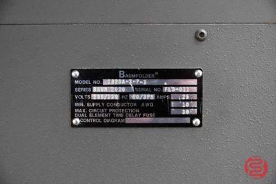 Baum 2020 Pile Feed Paper Folder - 122920100340