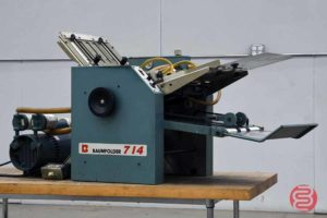 Baum 714 Vacuum Feed Paper Folder - 121820115520