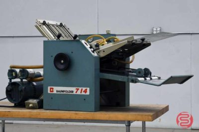 Baum 714 Vacuum Feed Paper Folder - 121820115520